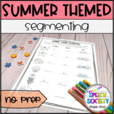 Segmenting into Syllables and Sounds - Summer Theme