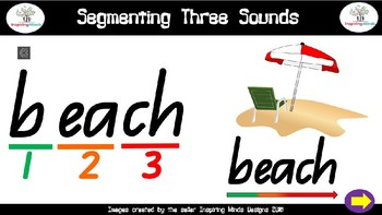 Segmenting words with 3 sounds Teacher Led Interactive