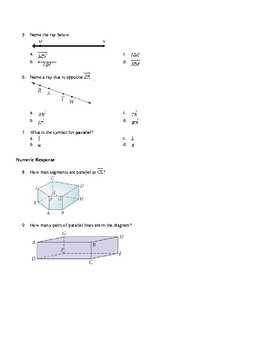 Segments, Rays, Parallel and Skew