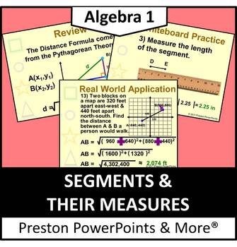 Segments and their Measures in a PowerPoint Presentation