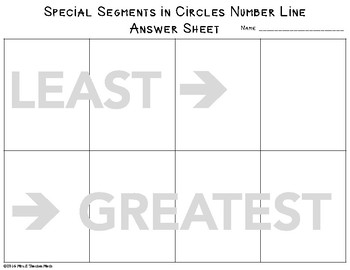 Segments in Circles Cut and Paste Activity
