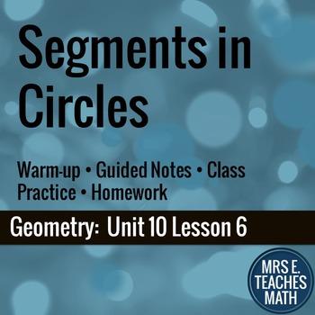 Segments in Circles Lesson