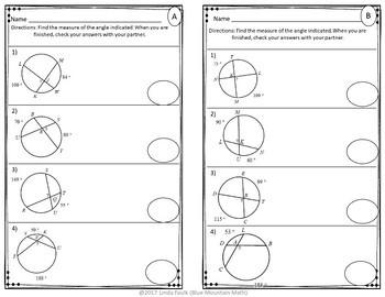 Segments in Circles Partner Practice