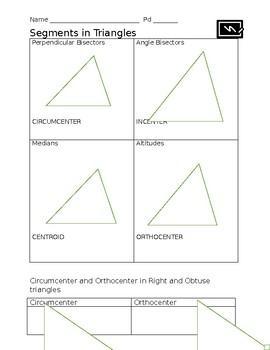 Segments in Triangles