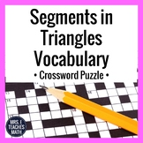 Segments in Triangles Vocabulary Crossword Puzzle