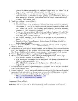 Segregation and Civil Rights Lesson Plan