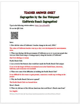 Segregation by the Sea Webquest (California Beach Segregation)