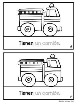 Seguridad contra incendios/bomberos {Fire Safety/Firefighters Readers -Bilingual