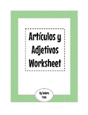 Seis Game and Spanish Articles and Adjectives Worksheet for Practice and Games