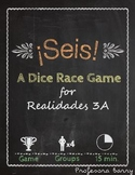Seis: a dice race game reviewing gustar, encantar, and food (Realidades 3A)