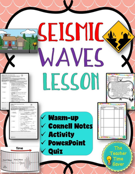 Seismic Waves Lesson- Earthquake unit (Notes, Presentation, and Activity)