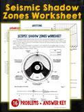 Seismic Waves Shadow Zones Worksheet