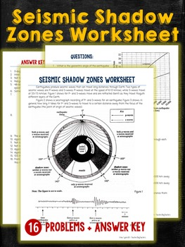 Seismic Waves Shadow Zones Worksheet