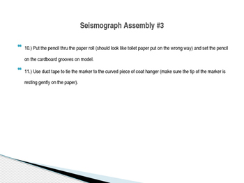 Seismograph Model Instructions