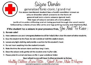 Seizure Disorder Health Information Card PDF