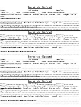 Seizure & Nurse Record Forms