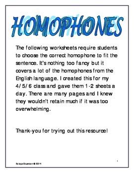 Select Homophone