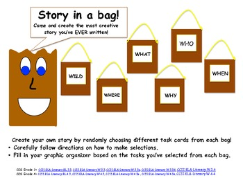 Select a story! Creative writing in a bag! Gr 3 and 4 Common Core Aligned