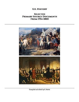 Selected Primary Sources for American History - Unit 3