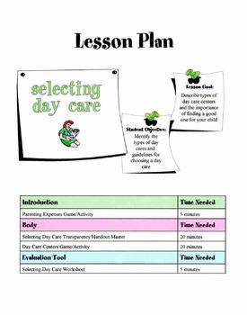 Selecting Day Care Lesson