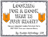 """Selecting """"JUST RIGHT"""" Books"""