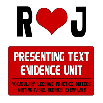 Selecting, Presenting, and Analyzing Text Evidence in Romeo and Juliet - A Unit