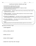 Selecting a Personal Narrative Topic worksheet