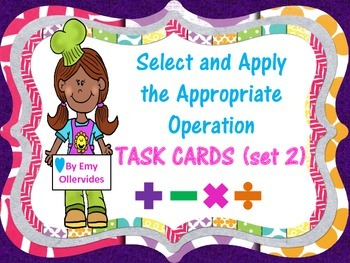 Selecting and Applying the Appropriate Operation (set 2)