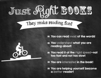 How to Select Just Right Books signs