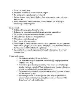 Selection Criteria for Fantasy, Supernatural, Sci-fi, Utopia, Dystopia