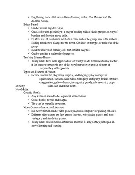 Selection Criteria for Poetry, Drama, Humor, and New Media
