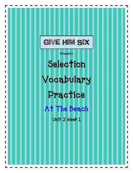 Selection Vocabulary - At The Beach