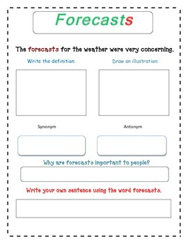 Selection Vocabulary - Eye of the Storm