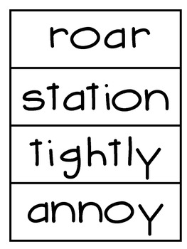 Selection Vocabulary Words- Word Wall Cards  Reading Street Unit 5