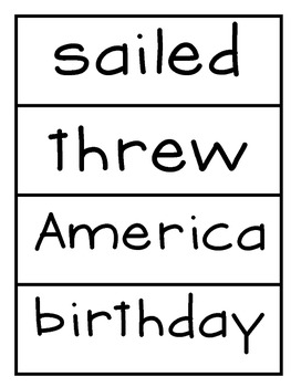 Selection Vocabulary Words- Word Wall Cards  Reading Street Unit 6