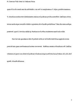 Selections from Cicero's Oratio In Catilinam Primam