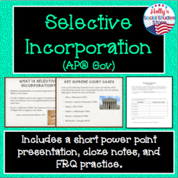 Selective Incorporation Lesson
