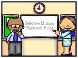 Selective Mutism Classroom Helps Mega Bundle