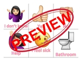 Selective Mutism Communication Cards (Girl Emojis)