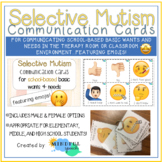 Selective Mutism Communication cards for school-based basi