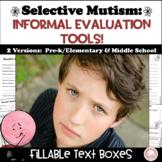 #distancelearning Selective Mutism Parent Questionnaire fo