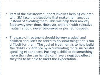 Selective Mutism Teacher PowerPoint Speech Language Pathology Classroom Support