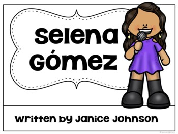 Selena Gomez Reader {Hispanic Heritage Month} Organizer, & Timeline {in English}