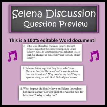 Selena Movie - Discussion Questions