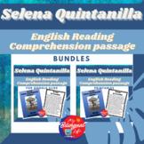 Selena Quintanilla English Reading Comprehension Activity Bundle
