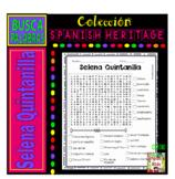 Selena Quintanilla -Hispanic Heritage Month- Word search