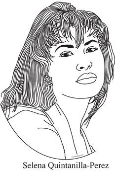Selena Quintanilla Perez Realistic Clip Art Coloring Page And Poster