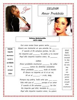 Selena song Hispanic Heritage and Culture Amor Prohibido