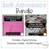 Self-Advocacy Activity BUNDLE for Deaf Hard of Hearing Students