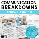 Self-Advocacy Articles: Communication Breakdowns Unit